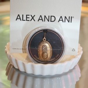 ALEX & ANI NEW PINEAPPLE CHARM GOLD TONE